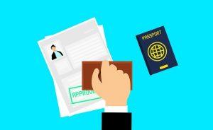 visa passport getting stamped